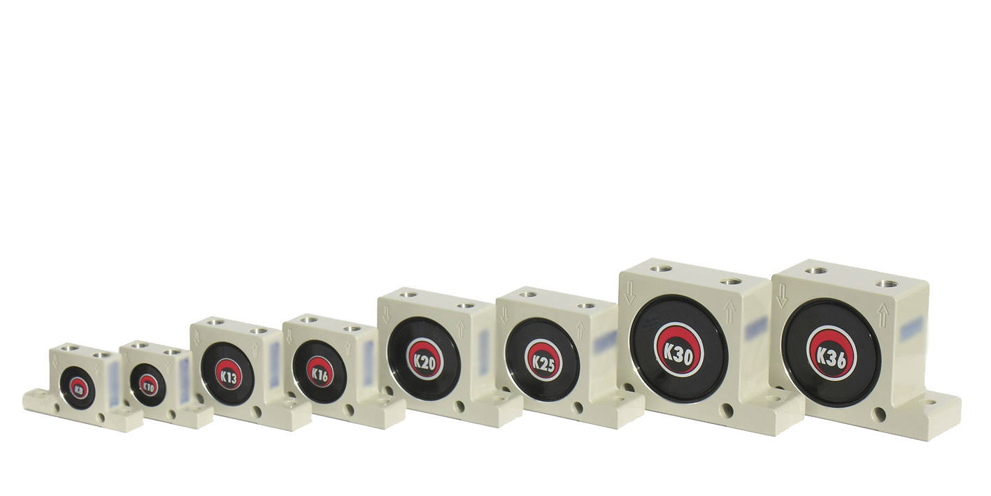 Pneumatic ball vibrator K